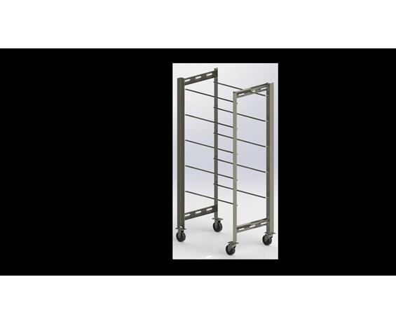 Five Tub Cart Stainless Steel