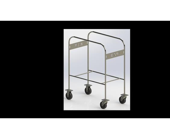 RAW Stainless Steel Tub Cart