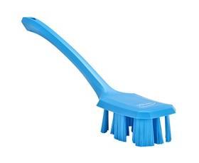 Vikan UST Long Handle Scrubbing Brush Stiff Blue