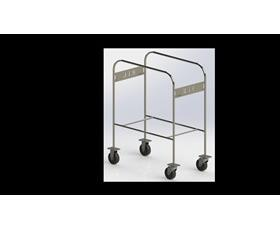 Two Tub Cart Stainless Steel Ready to Eat Identifier
